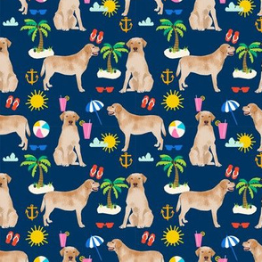 yellow lab beach fabric