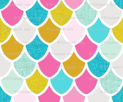 pink maui mermaid scales // small