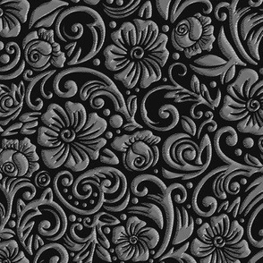 Textured Floral Platinum