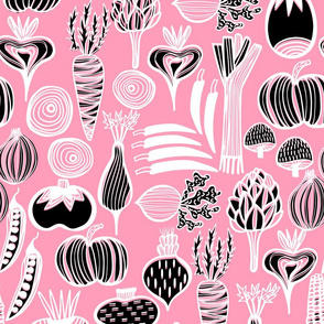 Retro Harvest in Pink & Black