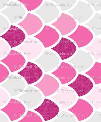 pink maui mermaid scales // pink // small // rotated