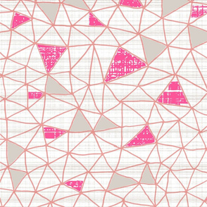 Magenta Gray geo grid