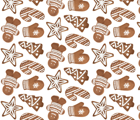 Gingerbread Cookie Sheet fabric by marketeightynine on Spoonflower - custom fabric