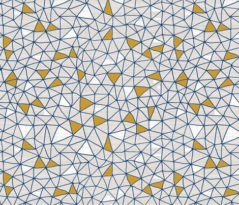 Navy Gold Geo Grid wallpaper - mrshervi - Spoonflower