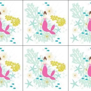 6 loveys: pink maui mermaid single motif brunette