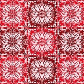 Art Nouveau poinsettas // floral giftwrap xmas holiday christmas fabric