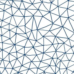 navy geo grid