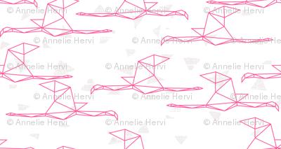 Magenta Flamingos