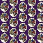 Posy medallion in purple