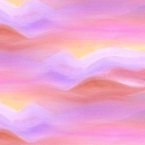 DREAMY UNICORN MOUTAIN SKY CLOUDS BLUSH PINK