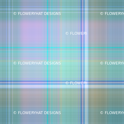 DREAMY UNICORN PLAID SAGE BLUE