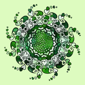 Hearts only! green