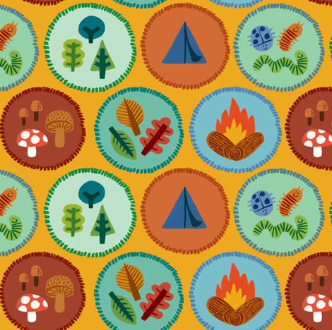 Camping Badges fabric by amywalters on Spoonflower - custom fabric