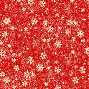 Red & Cream_Snowflakes_pattern