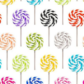 multi colored whirly pops - lollipop fabric