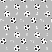 soccer game MED7- gray PERSONALIZED Ty