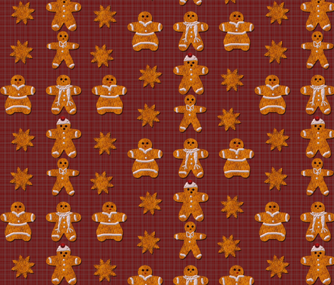gingerbread fabric by flutterbi on Spoonflower - custom fabric