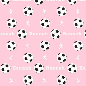 soccer game MED7- pink PERSONALIZED Hannah