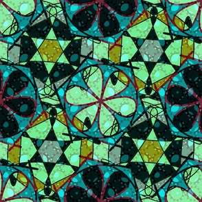 turquoise flowery abstract