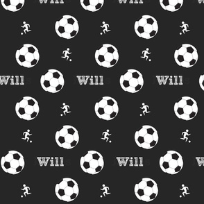 soccer game MED7- black PERSONALIZED Will