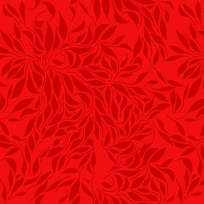 Swirling leafs Red
