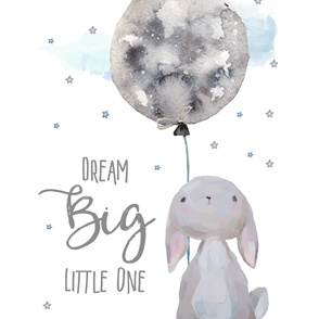"56""x72"" OR 54""x72""  Dream Big Little One / Bunny"