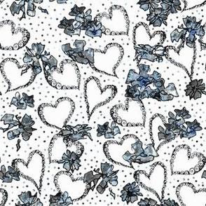 Heart Pattern on white