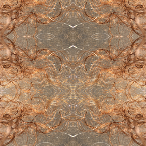 My_hair&silver_lining-Mirrored fabric by cloudsong_art on Spoonflower - custom fabric