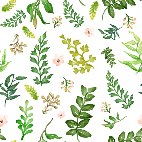 "8"" Floral Dreams Leaves & Mixed Florals fabric by shopcabin on Spoonflower - custom fabric"