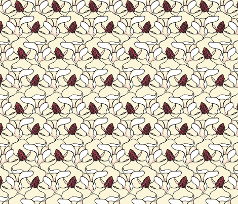 magnolia flowers fabric by hannafate on Spoonflower - custom fabric