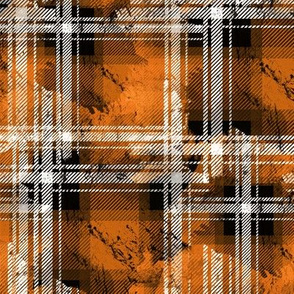 Orange Fall Grunge Plaid