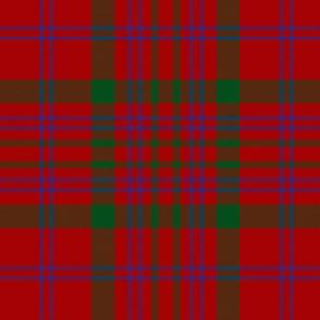 """MacDonell of Keppoch tartan #2, 6"""" blue stripe"""