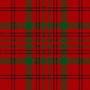 """MacDonell of Keppoch tartan #2, 6"""" black stripe"""