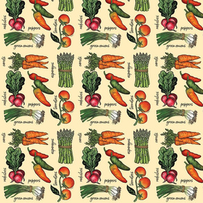 Veggies Block Print