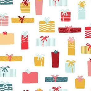Christmas presents multicolor