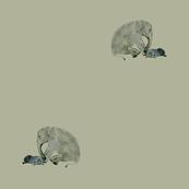 elephant protecting anxious rabbit