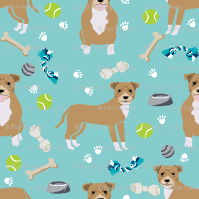 fawn staffordshire terrier dog fabric dog and toys design