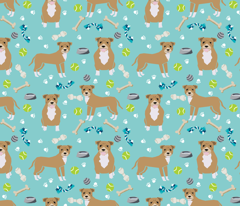 fawn staffordshire terrier dog fabric dog and toys design fabric by petfriendly on Spoonflower - custom fabric