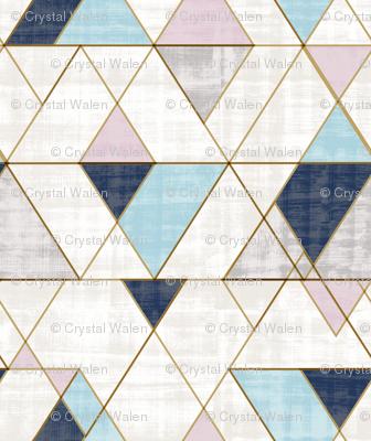 Mod Triangles S - blue lilac