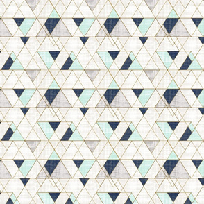 Mod Triangles Navy Mint - medium