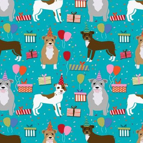 pitbull birthday party fabric cute pitbulls design