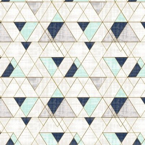 Mod Triangles S -Navy Mint
