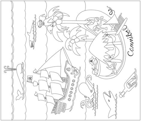 Cannibal Island fabric by lynnbishopdesign on Spoonflower - custom fabric