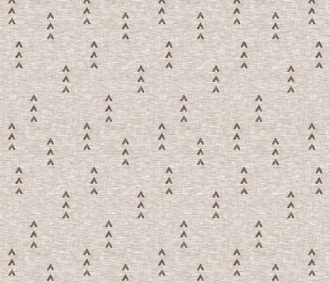 Tri Arrows - mocha fabric by sugarpinedesign on Spoonflower - custom fabric