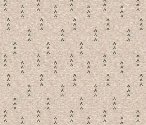 Tri Arrows - tan fabric by sugarpinedesign on Spoonflower - custom fabric