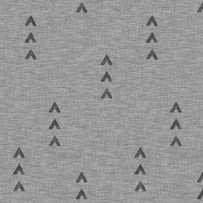 Try Arrows on Linen - Pewter