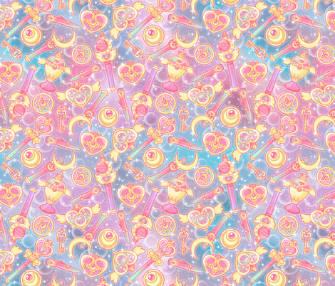 Pretty Guardian fabric by nuk on Spoonflower - custom fabric