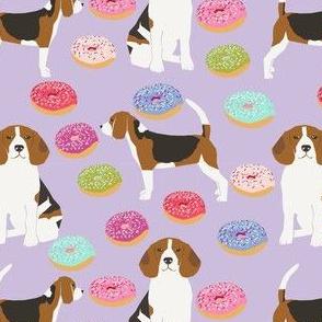 beagle donut fabric cute beagles and donuts design - pastel lavender