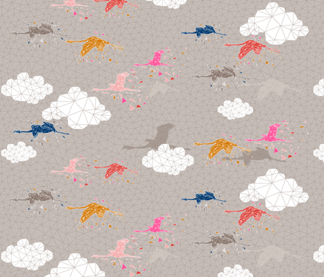 Flamingo Defragmentation fabric by mrshervi on Spoonflower - custom fabric