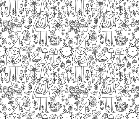 Garden Gnomes Fabric By Niseemade On Spoonflower